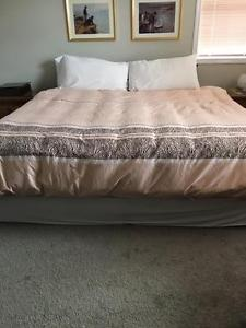 King bed package with night tables