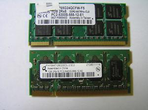 LAPTOP COMPUTER 1GB DDR2 MEMORY (RAM)
