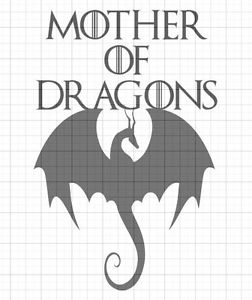 'Mother of Dragons' black vinyl decal (from Game of Thrones)