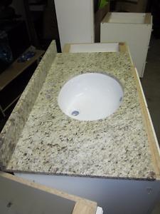 """NEW Bathroom Vanity Granite Top and Sink 36"""" X 21"""""""