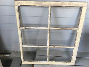 Old wooden window frame to make into a mirror
