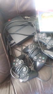 PLAYSTATION 2 with 4 Games