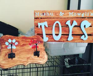 Personalized Toy Boxes & Leash Holders