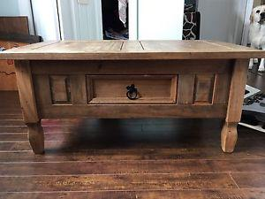 Rustic style coffee table and 2 end tables
