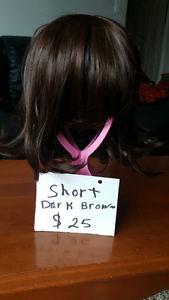 Short Dark Brown Hair Wig