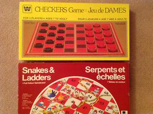 Snakes & Ladders & Checkers Board Games-$5.00 EACH