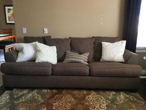 Sofa and love seat for sale.