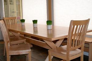 Solid Maple custom made table& chairs