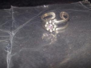 Sterling Silver Birthstone Toe Ring - June