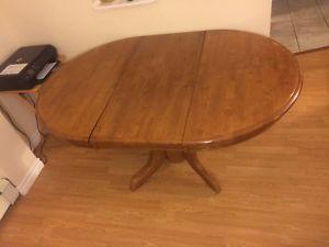 Wooden Pedestal Dining Room Table