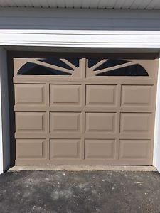 9'w x 7'h Wooden Garage door