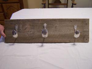 Barn Board Coat Rack With Spoons