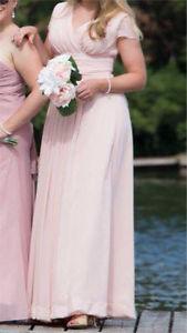Beautiful blush bridesmaid dress