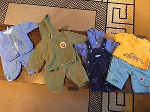 Boys baby clothes 3-6months.