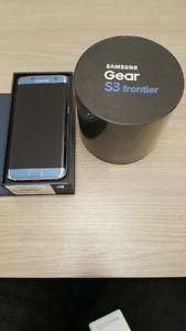 Brand New Samsung Galaxy S7 Edge Coral Blue & Gear S3