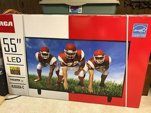 Brand new in box, 55 inch RCA LED high def TV!