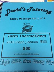 Davids tutoring Chem  volume 1&2 study guide