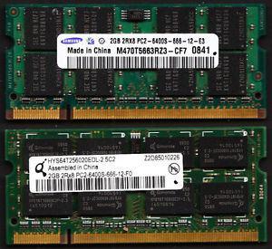 LAPTOP COMPUTER 2GB DDR2 MEMORY (RAM)