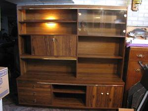 Large display cabinet with light, very good condition