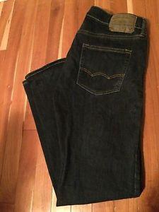 Men's Designer Jeans: LEVI'S, AMERICAN EAGLE, BOOTLEGGER.