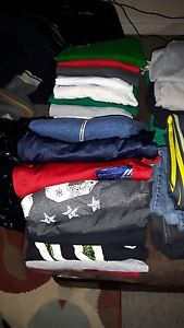 Men's large /extra large shirts and pants size 36
