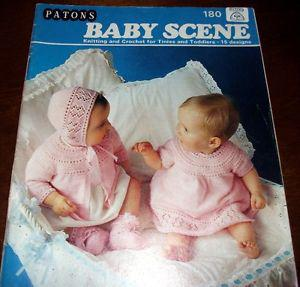 Patons BABY SCENE knitting and crochet patterns Book #180