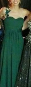 Size 00-2 Dark green prom dress