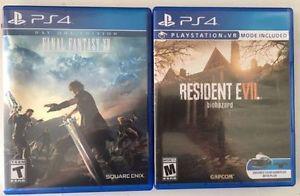 Two PS4 Games Bundle:Final Fantasy XV & Resident Evil