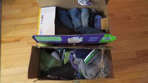 Two boxes of boys clothes - 24 months. A mix of items