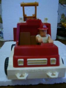 Vintage Fisher Price Hook & Ladder Fire Truck # )