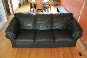 Vita Italian Leather Sofa and Loveseat
