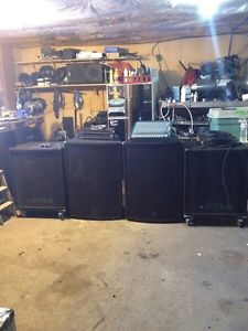 Yorkville PA with QSC amp rack for sale asap