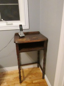solid wooden vintage telephone table