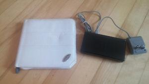 BLACK NINTEDO DS Lite,new charger, case and 9 DS GAMES