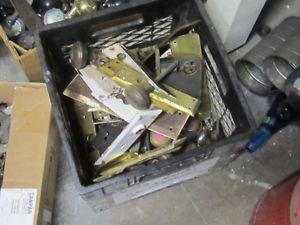 BOXFULL OF OLD DOOR KNOBS & COVER PLATES $2.00 EA.