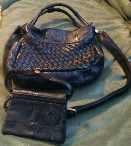 BRAND NEW BLACK SHOULDER BAG WITH WALLET FOR SALE