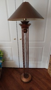 Beautiful copper colored metal floor lamp and shade $80 obo