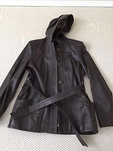 Brand new brown leather jacket