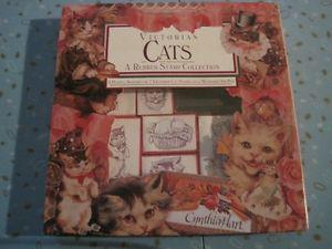 CYNTHIA HART VICTORIAN CATS RUBBER STAMP COLLECTION