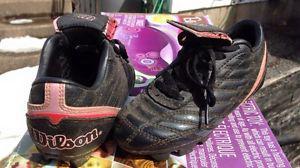 FS: Wilson girls soccer cleats, size 12