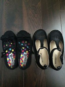 Girls dress shoes black size 8