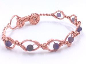 Handmade natural amethyst bead bracelet