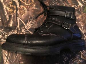 Harley Boots, Fleece Vest and Coat