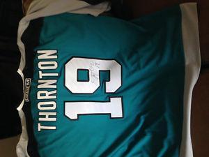 Joe Thornton San Jose Sharks Autographed Jersey