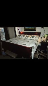 King Size bed with mattresses