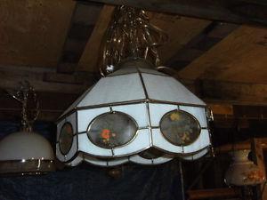 Lampe genre Tiffany en verre