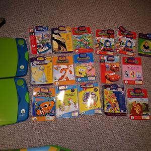 Leap pad learning system plus 16 books and cartridge