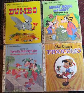 Lot of 4 Disney A little Golden Books