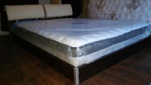 NEW Queen mattress pillow top 350 Queen bed 160$, Free