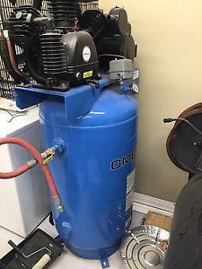 Omega 80 gallon compressor (brand new)